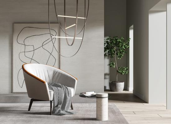 现代单椅 沙发椅 休闲椅