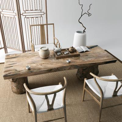 新中式茶桌 地毯