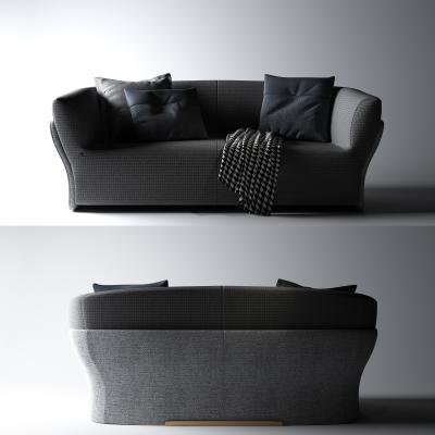 新中式双人沙发
