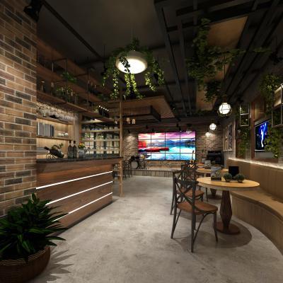 工业风音乐餐厅