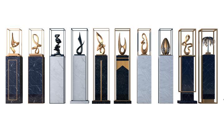 新中式花�� 雕塑 �品
