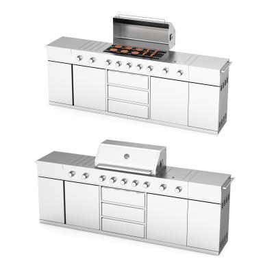 现代烧烤炉 炊具 操作台