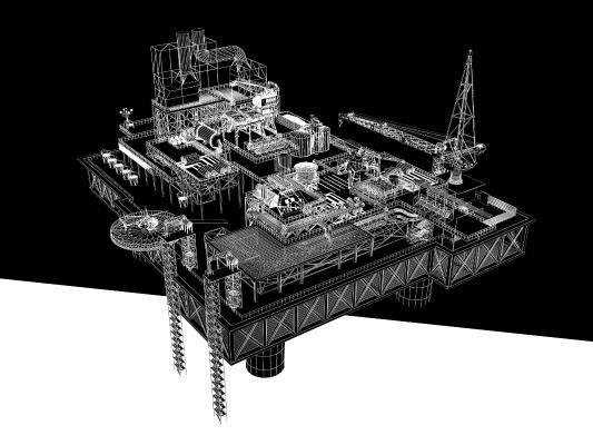 现代 海上钻井平台