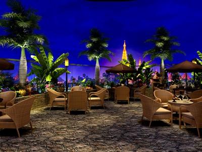 东南亚屋顶餐厅