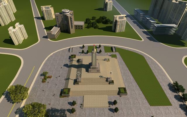 新中式纪念碑 烈士纪念碑 南昌人民英雄纪念碑 纪念塔 纪念碑 广场建筑 配楼建筑