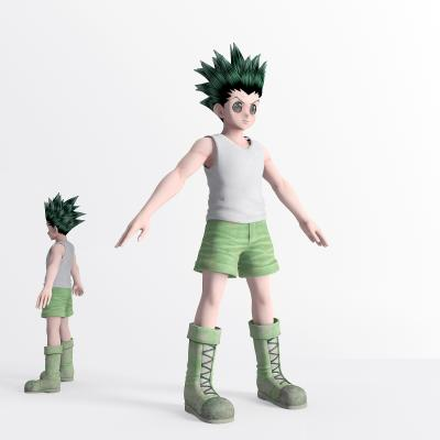 现代游戏人物 虚拟人物 游戏角色 动漫人物