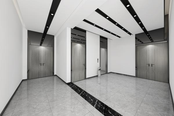 现代办公室电梯间 走廊