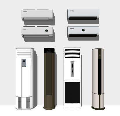 現代柜式空調 掛式空調組合