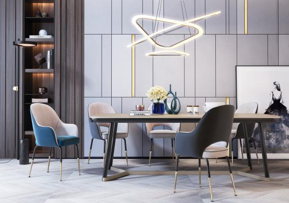 现代餐桌椅组合