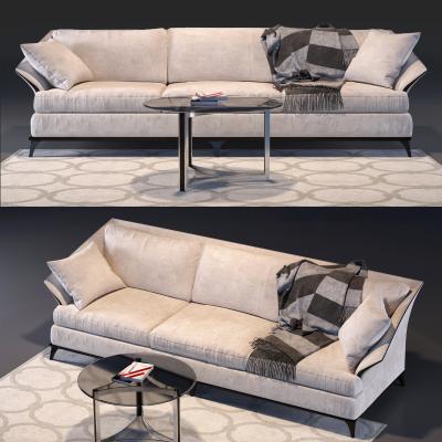 现代三人沙发茶几组合