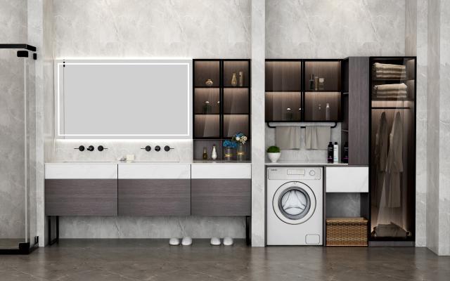 现代风格浴室柜 阳台柜 实木柜