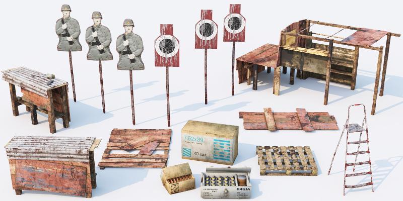 现代军事器材 弹药箱 子弹