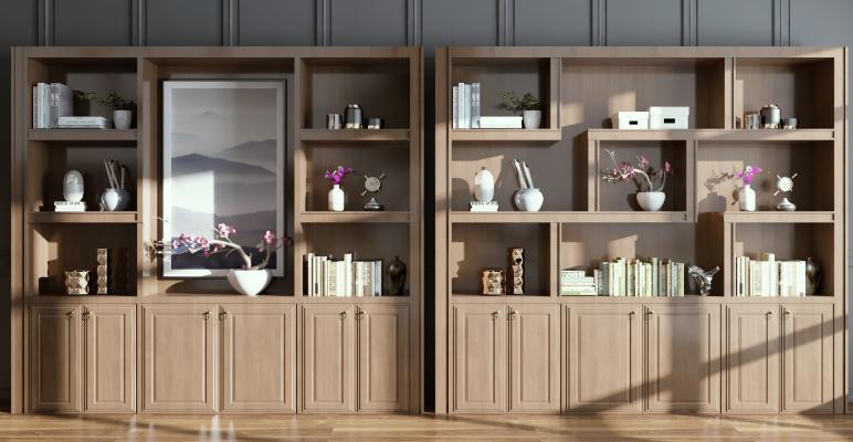新中式书柜 装饰柜