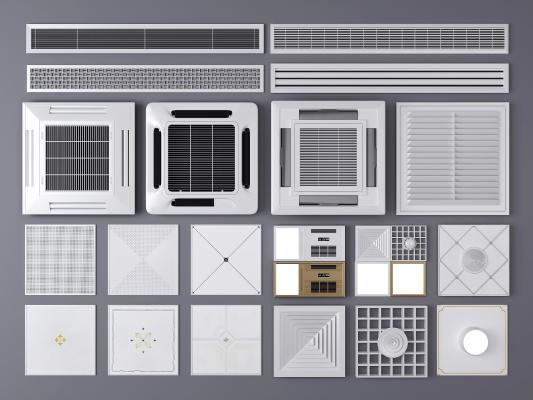 现代空调出风口 铝扣板