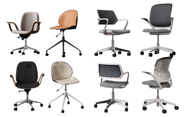 现代办公椅组合