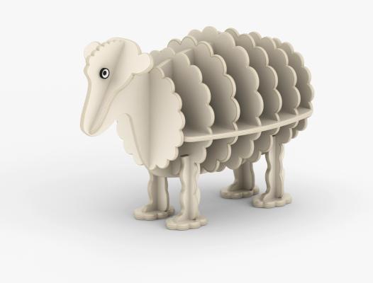 现代绵羊书柜 白羊书柜 创意书柜
