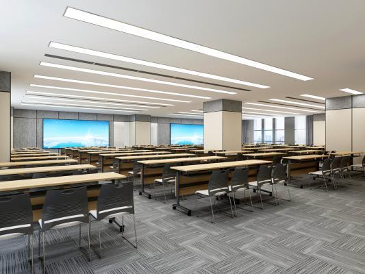 現代會議室 報告廳 投影儀 桌椅