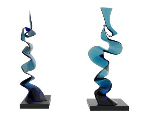 現代玻璃異形擺件,裝飾品,創意物件,裝飾擺件