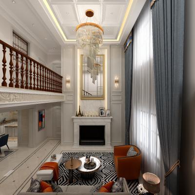 简约美式风格挑空家庭室
