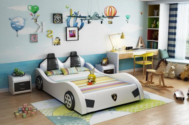 现代儿童汽车床