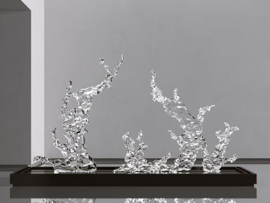 现代水花雕塑