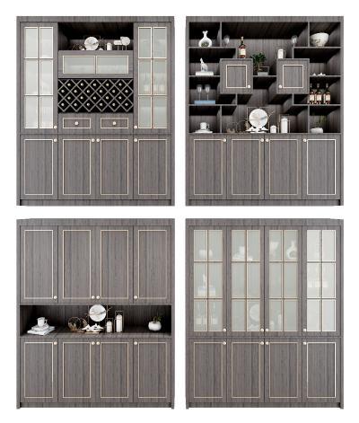 新中式酒柜 鞋柜 装饰柜组合