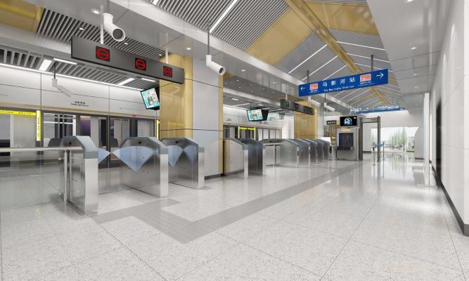 现代轨道交通站厅
