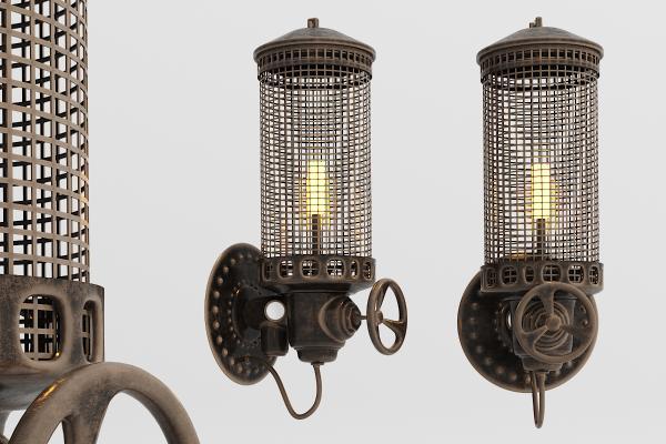 工业风金属壁灯