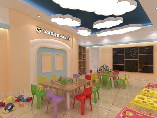 现代风格幼儿园教室 多维棋教室