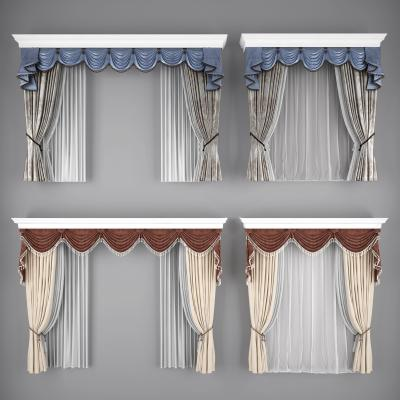 欧式窗帘美式窗帘窗纱
