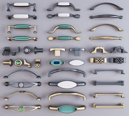 现代金属把手 拉手 五金件组合