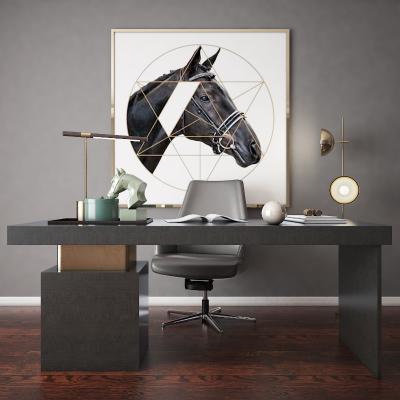 现代书桌 书柜 展示柜