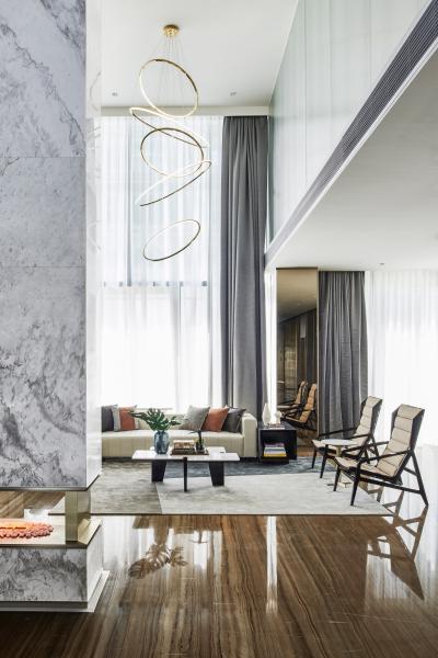 现代别墅复式客厅