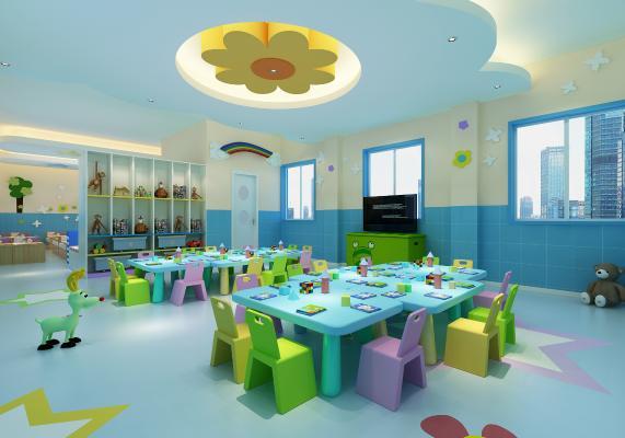 现代幼儿园休息室