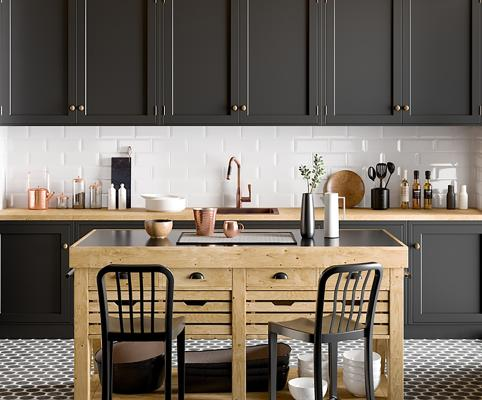 现代厨房用品 灶台 橱柜