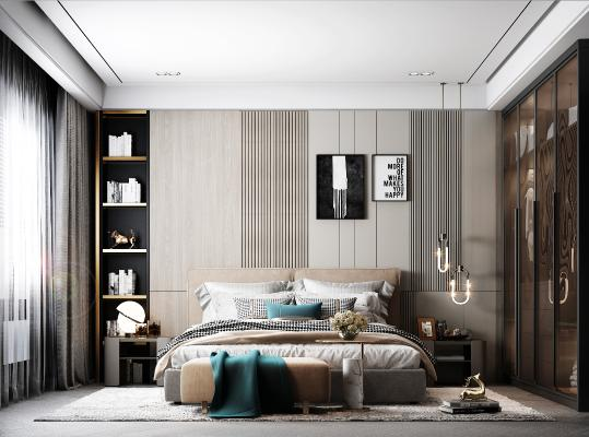 现代卧室 装饰画