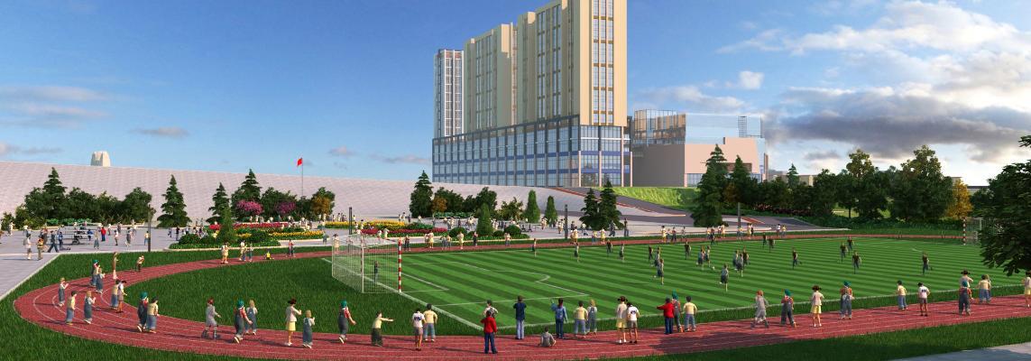 现代足球场 操场