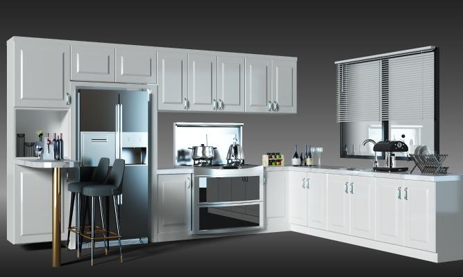 現代廚房櫥柜 吧臺 吧椅