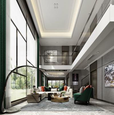 现代别墅客厅