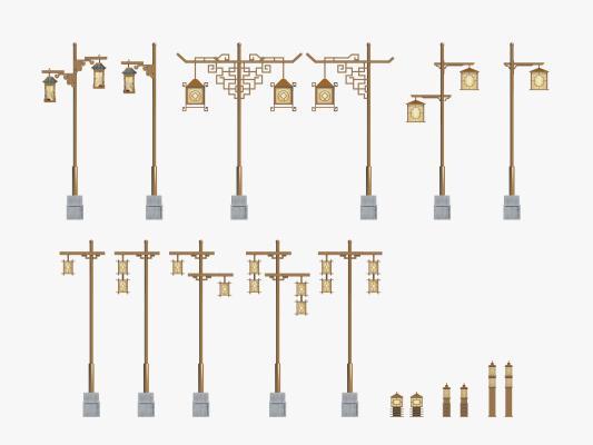 传统中式路灯