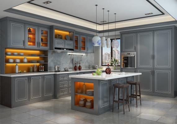 新中式橱柜新中式厨房