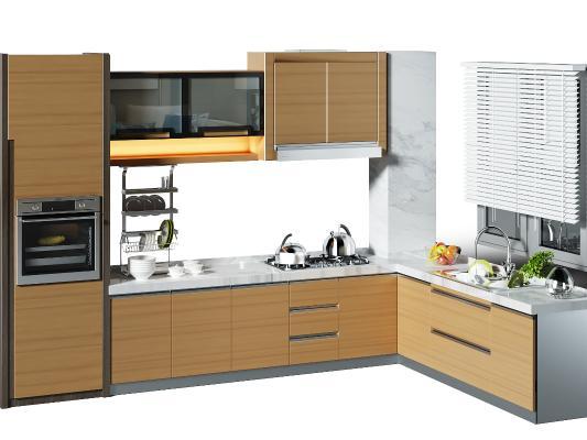 現代廚房櫥柜 廚具 百葉窗