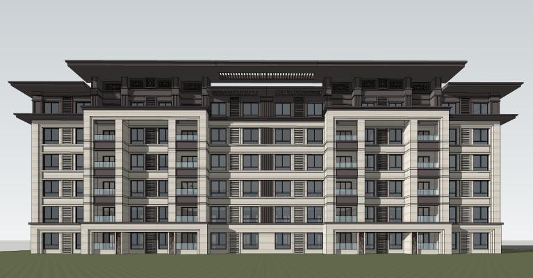 新中式多层住宅建筑