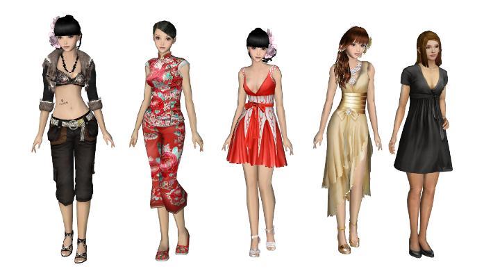 现代女人 模特 人物