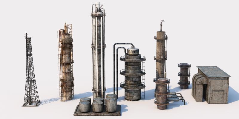 现代工业设备 化工设备 烟囱