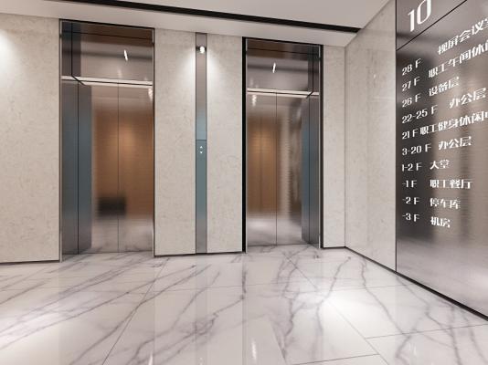 现代电梯前室 楼层指示牌
