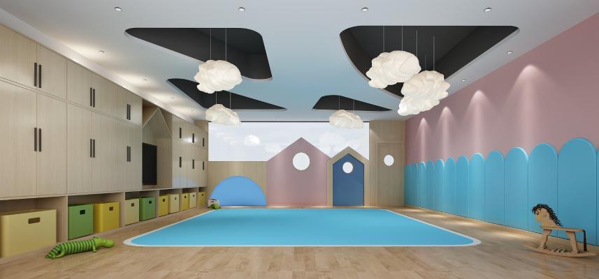 北欧风格学校 幼儿园教室