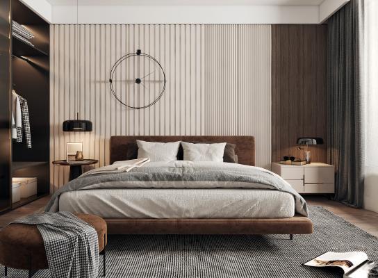 現代床品 床尾凳