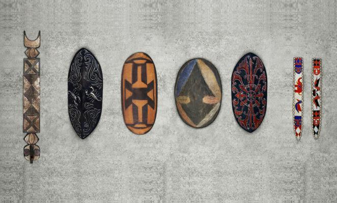 东南亚非洲墙饰摆件组合