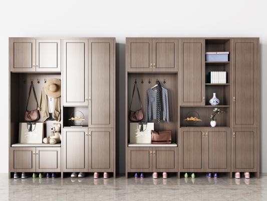 新中式实木鞋柜 衣服 围巾